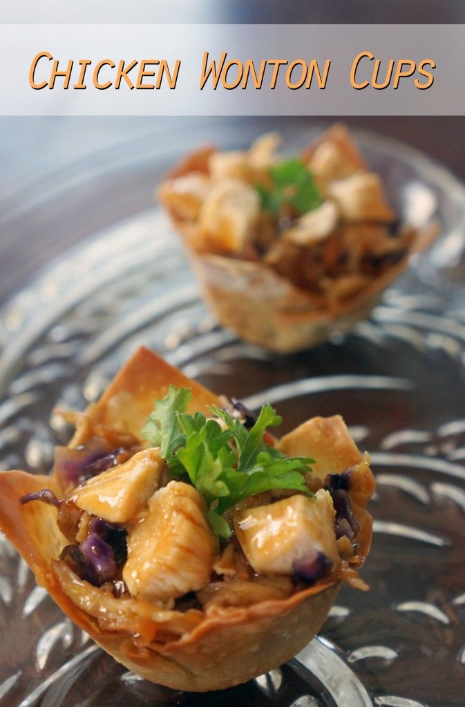 A simple recipe for teriyaki chicken wonton cups. Perfect for an appetizer or light dinner.