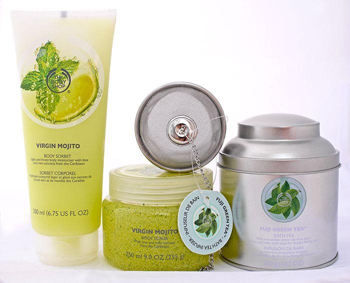 The Body Shop: скраб и сорбет для тела Мохито, чай для ванны Зеленый чай. Отзыв http://be-ba-bu.ru/beauty/bodycare/the-body-shop-skrab-i-sorbet-dlya-tela-mohito-chaj-dlya-vanny-zelenyj-chaj-otzyv.html
