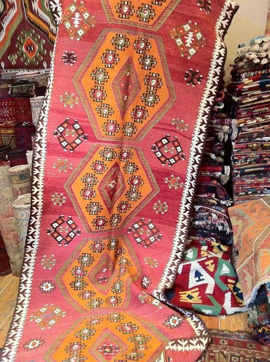 Tribal Turkish rug - Those colors!