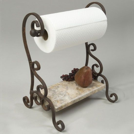 Bring old world charm to your kitchens decor with his wonderfully unique standing wrought iron paper. 78 Best ideas about Paper Towel Holders on Pinterest   Paper