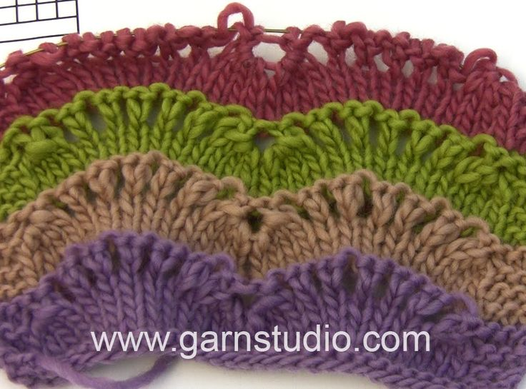 DROPS Knitting Tutorial: How to work wave pattern used in DROPS 163-17