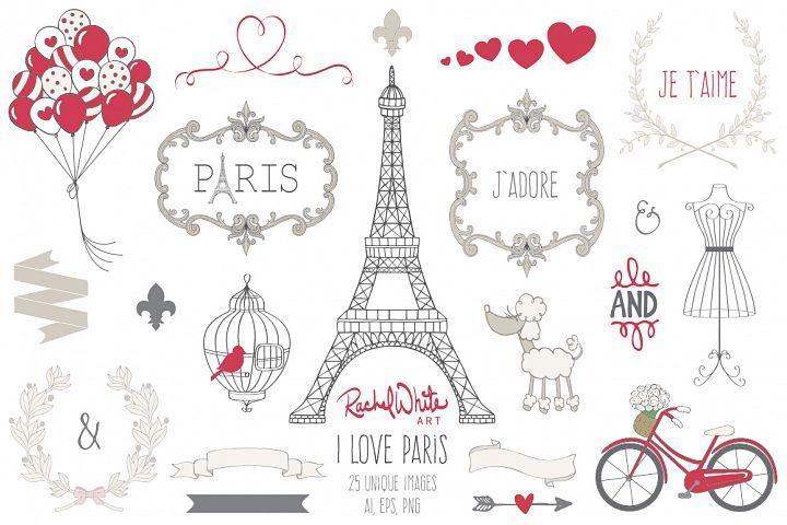 I Love Paris - Free Design of The Week Design [Vector]