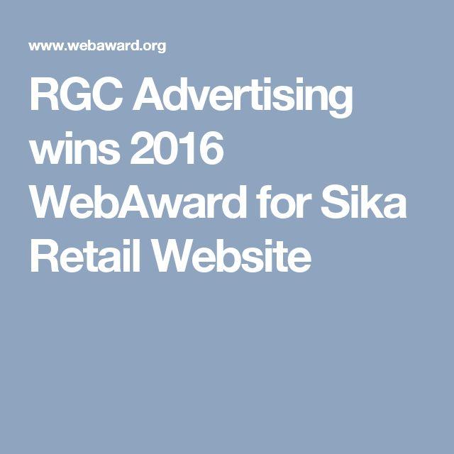 RGC Advertising wins 2016 WebAward for Sika Retail Website