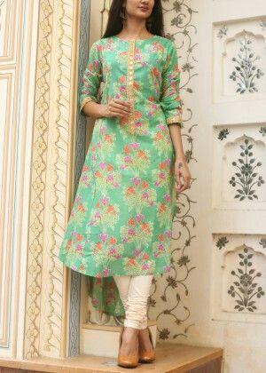 Green cotton tunic #vasansi #jaipur #vasansijaipur #shopnow http://www.vasansi.com/casual/tunic/