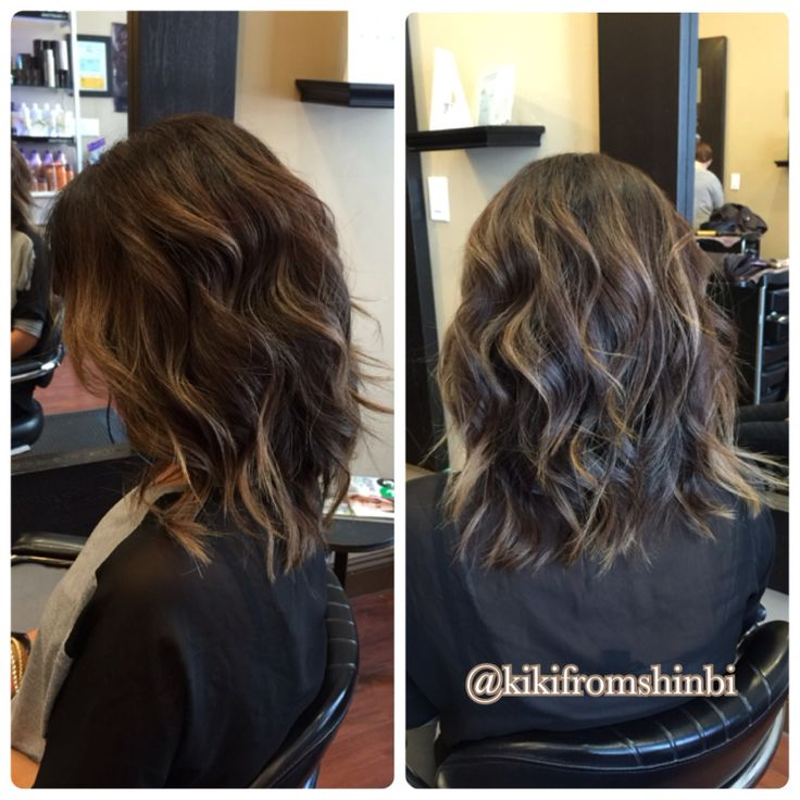 Shattered long bob with soft ombre. Anh Co Tran inspired hair cut.