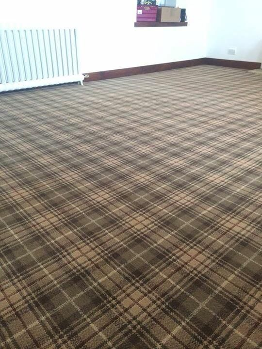 Studio Installation of Ulster Carpets Beaumont range in the Grouse colour way in Muirend & Bearsden Glasgow installed by Carpet Studio. #timelesscarpet #tartan #plaid #interiors. http://ulstercarpets.com/residential/choosing-your-carpet/search-by-range/country-house-collection#range-country-house-collection