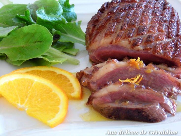 Aux délices de Géraldine: Magret de canard à l'orange, miel et épices