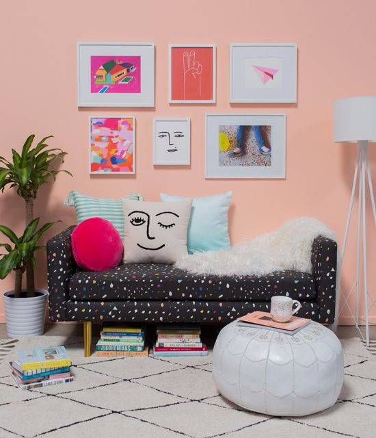 This Fun Gallery Wall Mixes Photos And Prints In Multiple Frame Sizes From  Our Online Framing