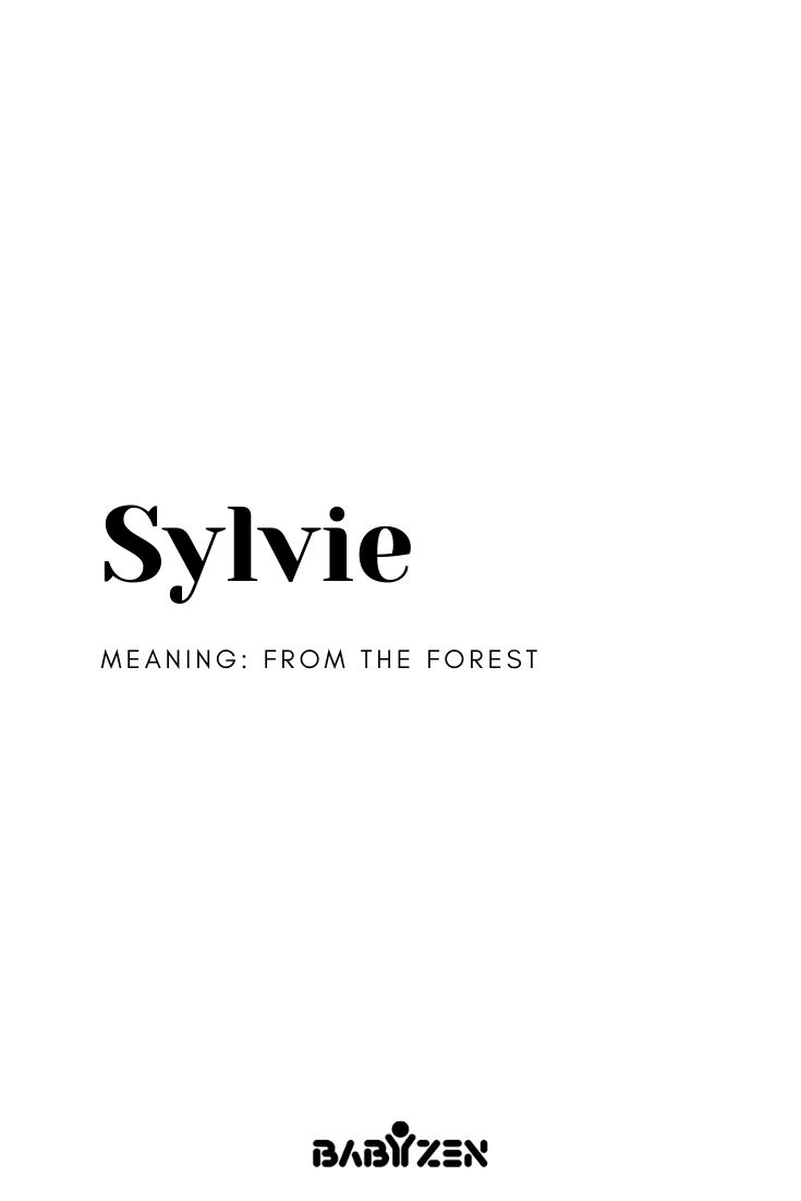 Sylvie- French Inspired Baby Names in 2020 | French last ...