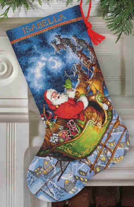 Santa and Sled stocking
