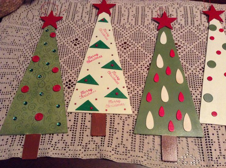 Arbolitos de navidad en madera