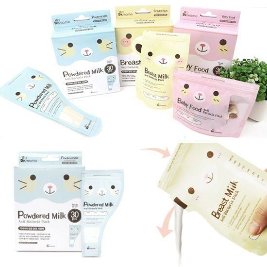 Made In Korea Dr.mama Anti-Bacterial Breast Milk Storage Bag/Powdered Milk 90EA