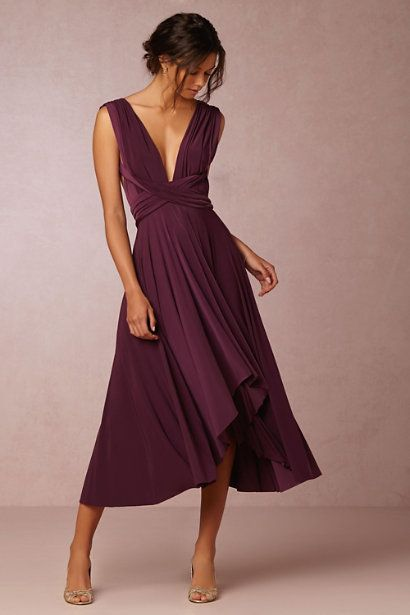 This Gorgeous Plum Bridesmaids Dress Costs Less Than 300