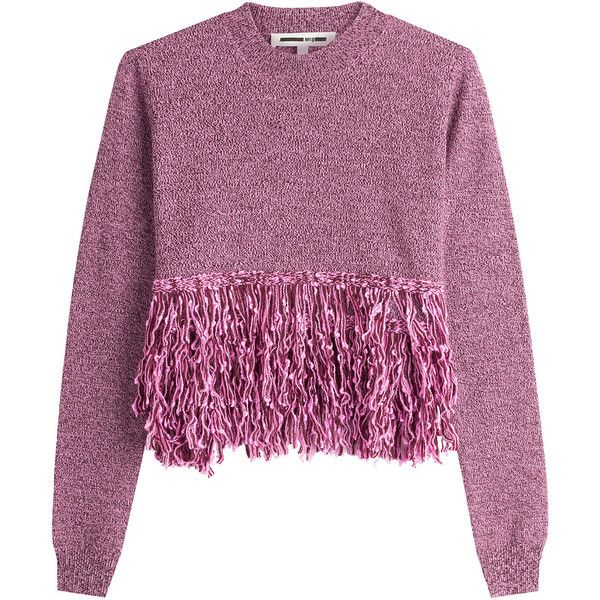 McQ Alexander McQueen Wool Pullover (50.165 HUF) ❤ liked on Polyvore featuring tops, sweaters, jumpers, shirts, purple, loose shirt, wool sweaters, shirt sweater, purple long sleeve shirt and pullover shirt