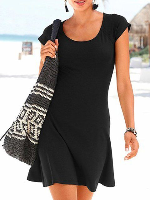 d4a01c7878e29 Online Shopping Justfashionnow Summer Dresses 1 Shirt Dress Holiday Shift  Crew Neck Short Sleeve Paneled Beach Dresses, The Best Daily Summer Dresses.