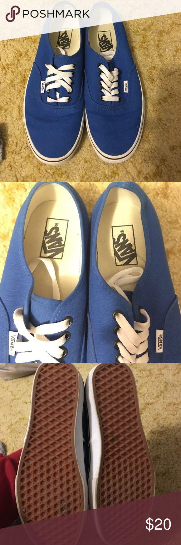 Blue vans Barely worn. Vans Shoes