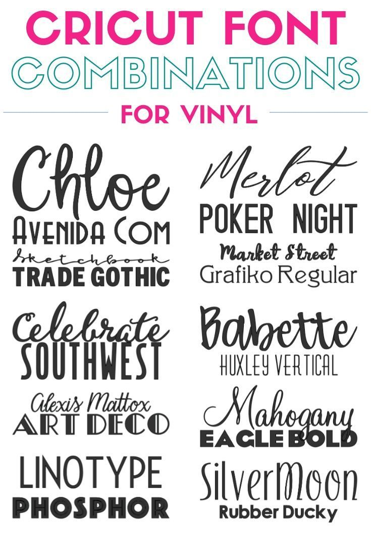 Top 10 Best Cricut Fonts Combinations For Vinyl The Crafty Blog Stalker In 2020 Cricut Fonts Cricut Font Combinations