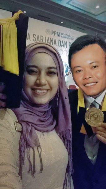 Fobia said she hates Sule, she did a selfie on his graduation.