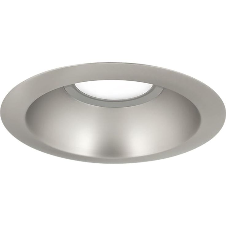 "Progress Lighting P8071-LED LED Recessed 6"" LED Reflector Trim with White Polyca Brushed Nickel Recessed Lights Recessed Trims"