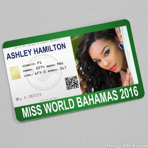 Ashley Hamilton Miss World Bahamas 2016 card