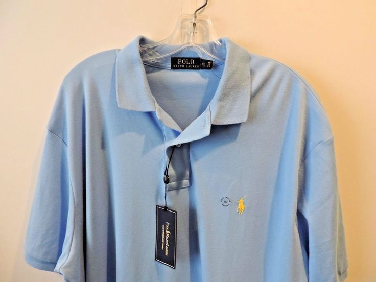 Ralph Lauren Polo Authentic Light Blue 100% Pique Cotton Polo Shirt SZ XL NWT    #RalphLauren #PoloRugby