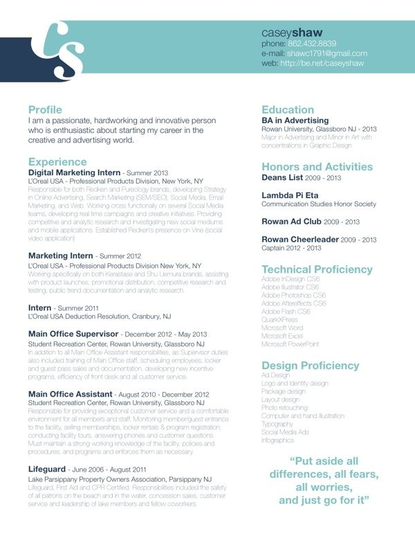 9 best creative resumes images on pinterest resume layout