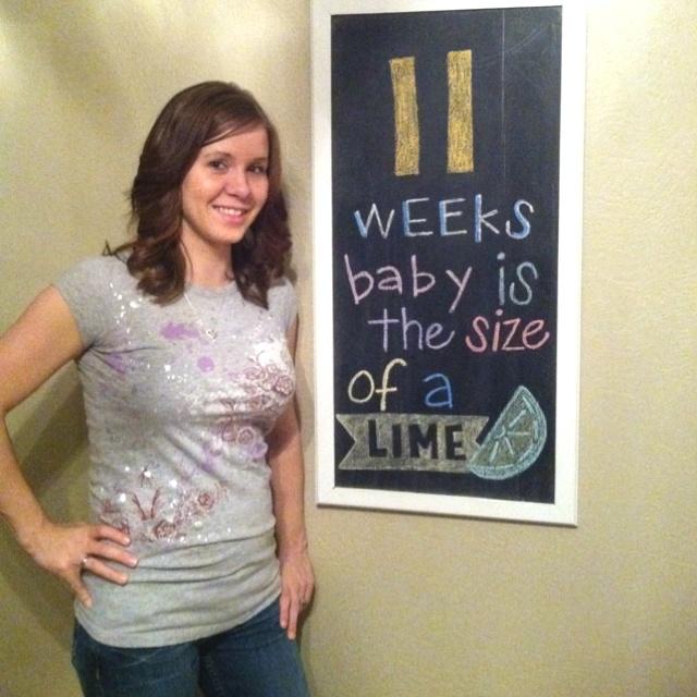 11 weeks via chalkboard  #maternity #baby #bump #chalkboard
