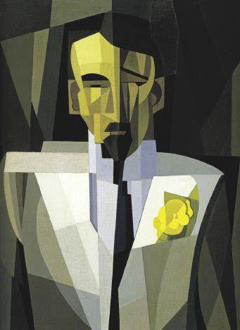 """El hombre de la flor II"", obra de Emilio Pettoruti.  Foto: Archivo El Litora"