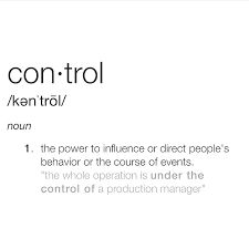 Control's definition