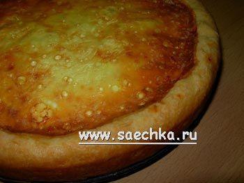 Луковый пирог - фото