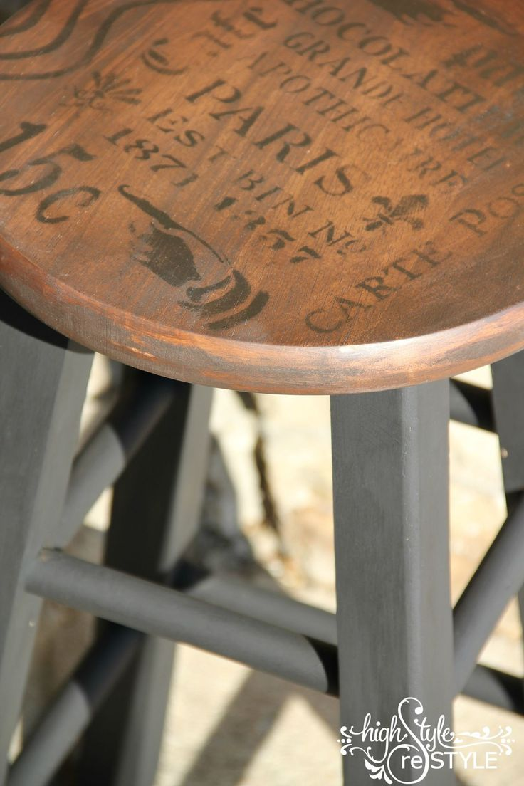French Inspired Bar Stool Makeover Furniture All Things