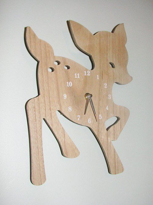 Cute wooden deer clock was only $5 at Kmart, great for a baby or children's room to add fun and warmth