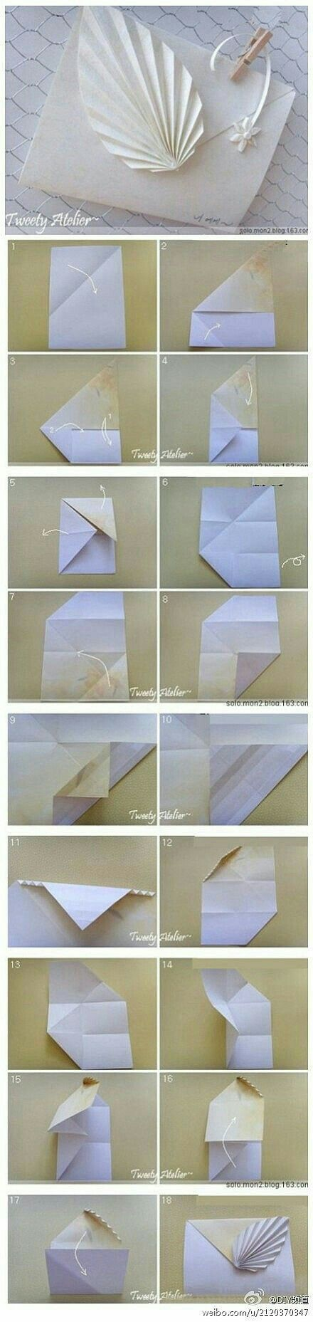 Origami bamboo letterfold folding instructions - What A Cool Way To Dress Up An Envelope Or Gift