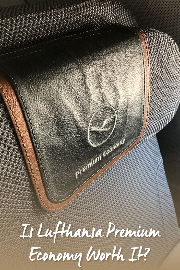 A first-hand review from a passenger who upgraded for anxiety reasons. It explains the differences between the Premium and regular Economy for Lufthansa. Includes annotated photos of the upgraded finishes.