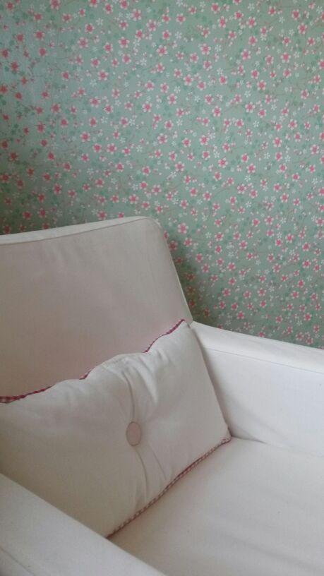 Slaapkamer sofie met pip behang baby pinterest - Slaapkamer met behang ...