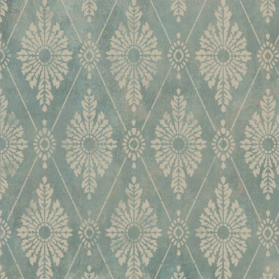 Diamond Damask Stencil Wallpaper stencils by CuttingEdgeStencils