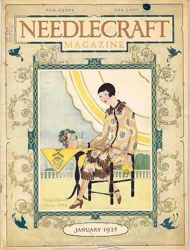 Flapper Cover Magazine Needlecraft Pattern Crochet Ads Helen Grant 1927 Vintage   eBay