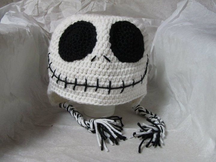 Jack skeleton nightmare before christmas Crochet winter hat. $16.00, via Etsy.