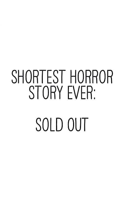 Shortest horror story ever: sold out. #newlook