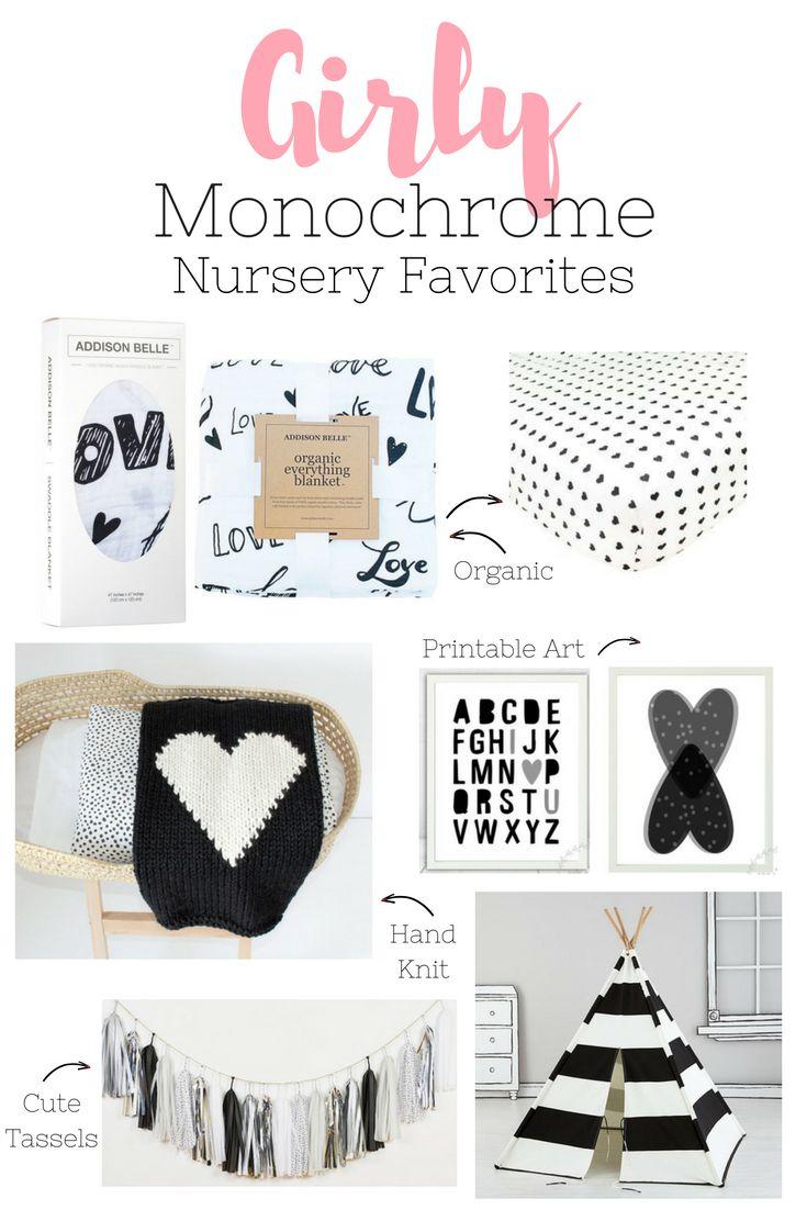Girly Monochrome Nursery Favorites