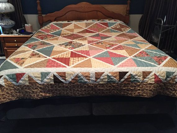 Queen/King Size Lattice Quilt by 127AlmostAmish on Etsy