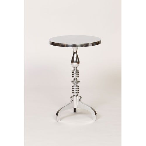 Cast Aluminum Table With Turned Base Prima End Tables Accent Tables Living Room Furniture