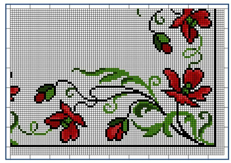 Moderne Stickerei-Vorlagen, Secession, Jugend-Styl, page 7. c. 1915. Art Nouveau cross-stitch, flowers.