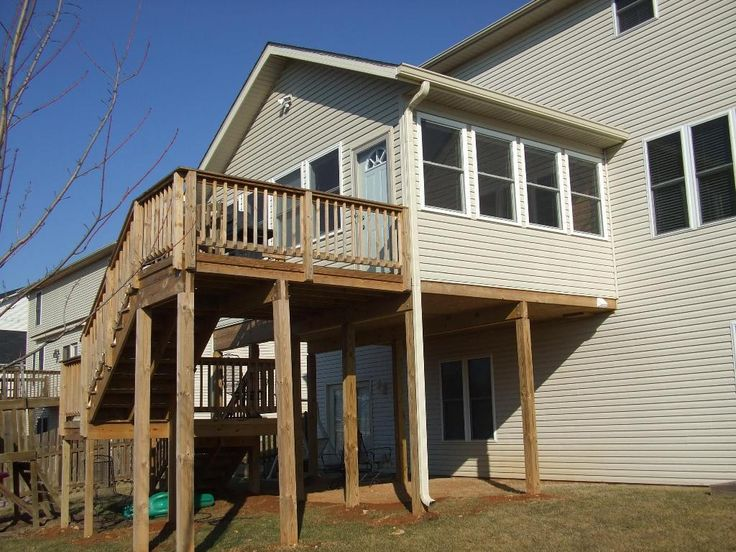 104 best deck stairs images on pinterest balconies for 3 story deck