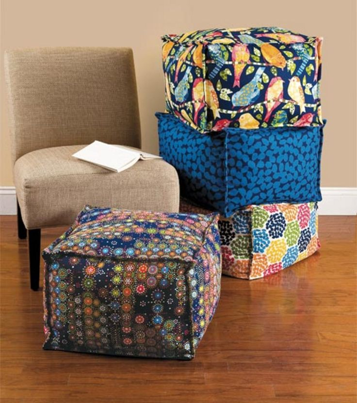 Home Decor Sewing Ideas: Love These Cube Pillows Or Ottomans For Home Decor!