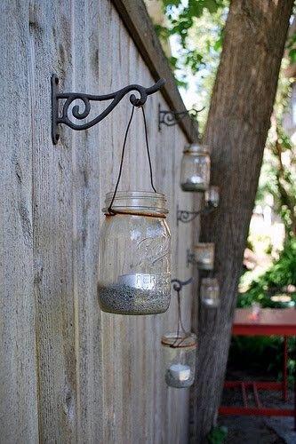 diy outdoor craft projects - Bing Images - via http://bit.ly/epinner: Ideas, Teas Lights, Gardens, Mason Jars Lanterns, Backyard, Mason Jars Candles, Jars Lights, Outdoor Lights, Masonjar