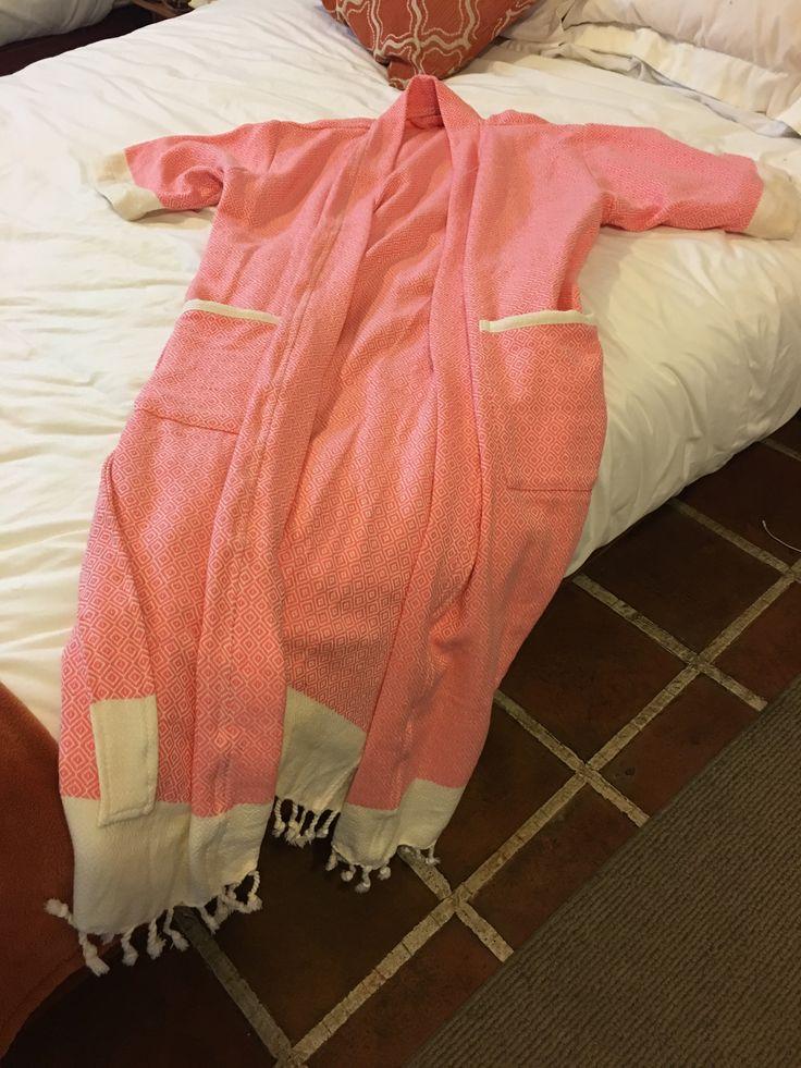 Beautiful Baklava. Custom-made robe of organic cotton.