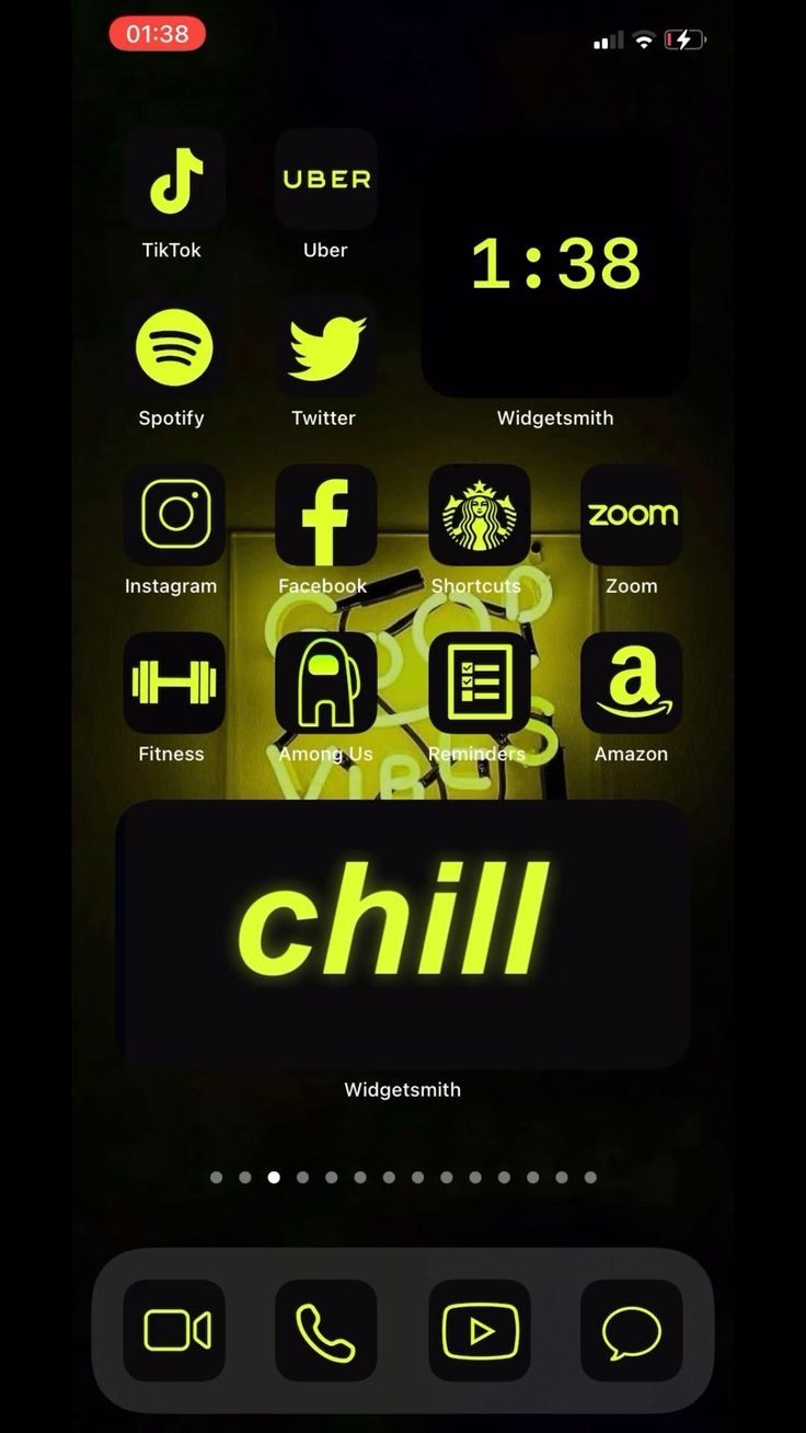 200 app icons lime neon yellow vibrant black