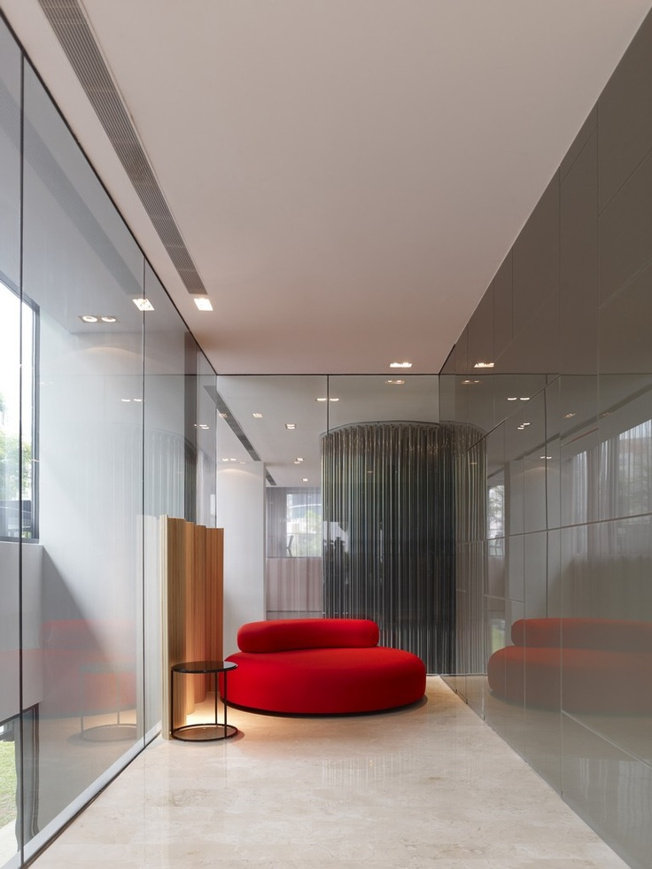 Hotel Design: Studio M Hotel by Piero Lissoni and ONG  The Bubble Rock in red for Living Divani