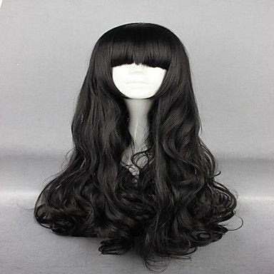 anime rwby Blake belladonna svart 70cm långt vågigt högkvalitativa syntetiska mode kvinnor cosplay peruk 5313226 2016 – Kr.146